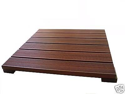 Massaranduba Deck Tile/Shower Mat -Stronger than Teak   Teak Deck Tiles