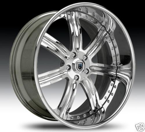 AF126 AF 126 Chrome Multi 2 Piece Rims Wheels Tires Package