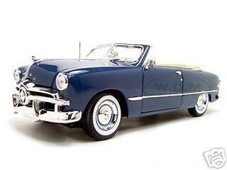 1949 FORD CONVERTIBLE BLUE 1:18 DIECAST MODEL CAR BY MAISTO 31682