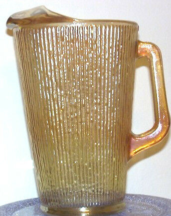 Vintage Carnival Glass Water Pitcher Clambroth RARE