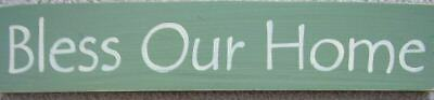 (BLESS OUR HOME Chic Housewarming GIFT New Sign Plaque U-Pick Color Wood )