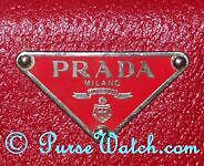 219282d720924c Most purses have the Prada triangle logo outside, usually in the center on  the front or on the side; some style will have the logo affixed in the back.