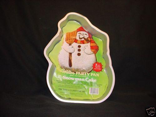 Wilton CHRISTMAS SNOWMAN cake pan FARMER mold INSERT