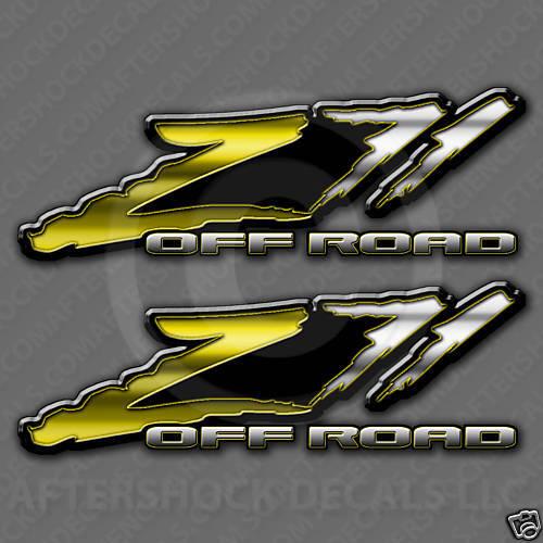 Z71 Truck Yellow Decal Sticker Steelers Silverado